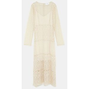 ZARA WOMAN Sleeveless Lace Sheer Coverup/Dress